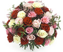 Valentine Flowers Mixed Roses Bouquet to India