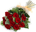 Valentine Flowers Red Roses Bouquet to India